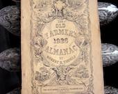 1926 Old Farmer's Almanac  Original Vintage Antique Paper Ephemera Guide Book