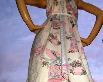 Geek Doll Dress Holly Hobby Maternity Sundress Adult M L XL Plus Size Pink Blue Party Sundress