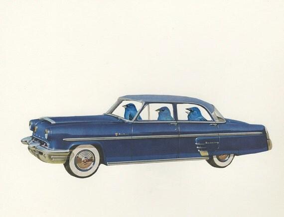 Backseat Driver.  Original collage by Vivienne Strauss.