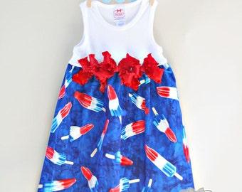 July 4th Dress Popsicle Bomb Pop 2T Ready to Ship SALE