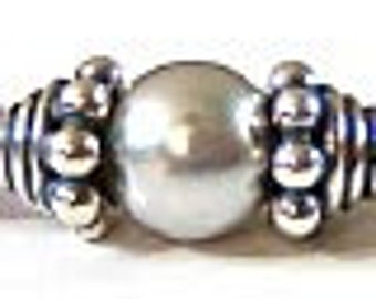 24 pcs 3mm x 4mm Small Bali Sterling Silver Bead Cap Oxidized C21