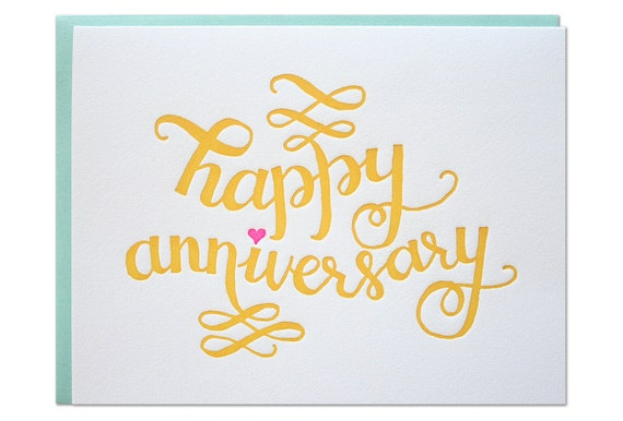 Happy Anniversary Letterpress Card