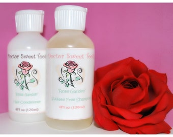 Rose Garden Shampoo and Conditioner Set (Sulfate and Paraben Free)