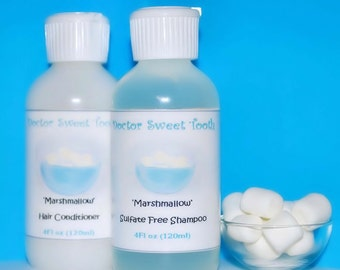 MARSHMALLOW FLUFF Argan Oil Shampoo & Conditioner Set (Sulfate and Paraben Free)