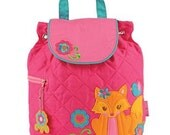 Personalized Stephen Joseph Quilted Back Pack Girl Fox by Never Felt Better