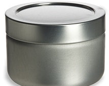 3oz Deep Round Tin Container with Twist Lug Lids 12 NEW Candles, Spices, Beads