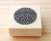 Rubber stamp - Japanese chrysanthemum - A type