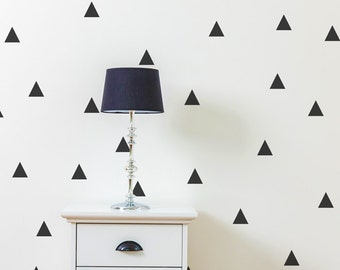 Triangle Wall Decals - Triangle Decals - Geometric Wall Mural Decal - Kid Decal - Statement Decal - WD1024