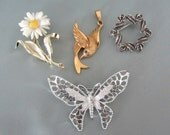 Sarah Coventry Brooch, Pin and Pendant Four Piece Collection
