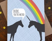 funny birthday card / unicorn