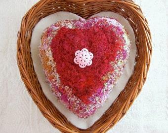 Hugs & Kisses Plush - Heart Shaped Love Keepsake - Unique Gift for Her - Mother / Daughter / Sweetheart / Secret Admirer - Valentine Message