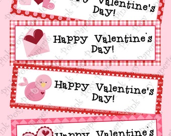 Printable Valentine Classroom Party Bookmarks - Instant Download