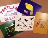 Portland, Oregon Themed Postcards - Set of 5