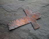 Copper Hammered Cross Pendant/Bracelet Connector