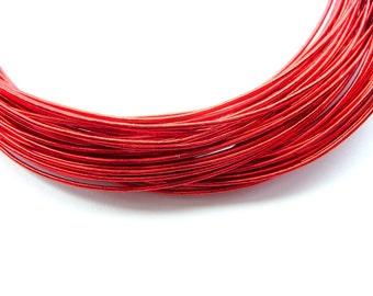Mizuhiki Japanese Decorative Paper Strings Cords METALLIC Red