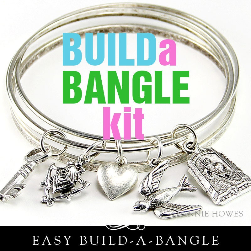 your own charm bracelet diy bangle charm bracelet kit make your own charm by 110