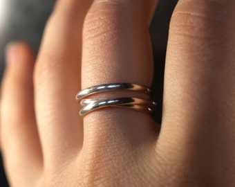 Infinite Going in Circles ring, Sterling Silver wrap ring, sterling silver ring, silver wraparound ring, wide silver band, wedding band