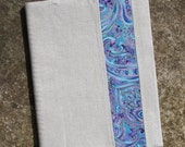 Linen Peek of Paisley Single Subject Spiral Notebook Cover