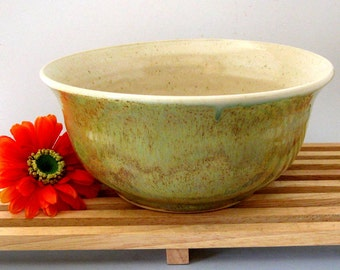Ceramic  Bowl - Ready to Ship - 56 ounce Serving Bowl-  Hand Thrown Mixing Bowl