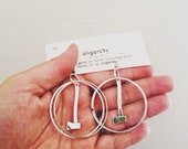 the silver axe hoop earrings - portland timbers