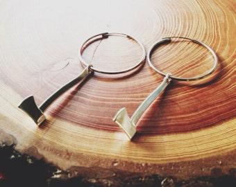 the shiny axe small hoop earrings portland timbers