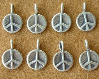 Karen Silver Peace CHARMS - 4 Pieces