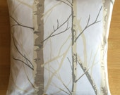 "16"" x 16"" cushion cover - birch tree trunks"