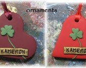 Personalized Ireland Clover Irish Ornament or Wearable Art Irish Shamrock Erin Go Bragh Ornie St. Patricks Day Pin OFG Team