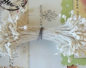 Vintage Millinery / Double Ended Stamen Pips / Aged White / Flower Centers