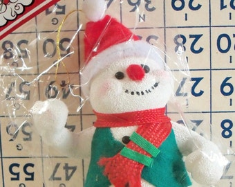 Merry Kitschmas / Vintage / Snowman Ornament / Christmas Decoration / Unopened Package