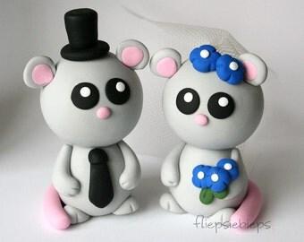 Custom Mouse Wedding Cake Topper