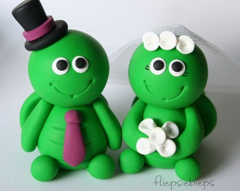 Turtle Wedding Cake Topper Custom