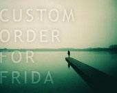 CUSTOM ORDER for FRIDA - A Long December 30x20cm 12/8in, Matte finishing, signed