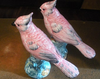 Stangl Cardinal Pottery Birds Set of Two