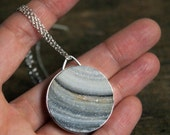 Surf, ON Clearance, a Chalcedony Druzy necklace