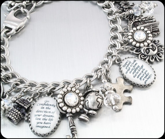 Inspirational Charm Bracelets: Charm Bracelet Inspirational Quotes Charm By BlackberryDesigns