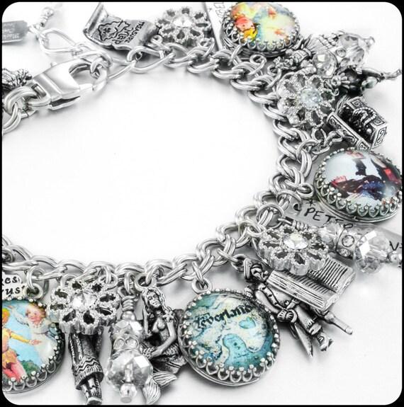 Tinkerbell Charm Bracelet: Fairy Charm Bracelet Neverland Charm Bracelet By