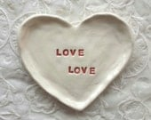 Heart Shaped Dish Trinket Dish Jewelry Dish Love Love