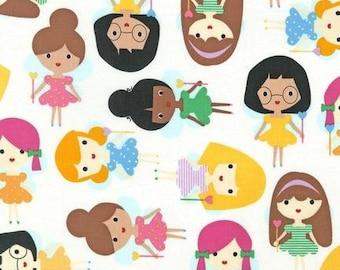 Girl Friends FAIRY Princess by Ann Kelle Fabric by Robert Kaufman in Bright, yard