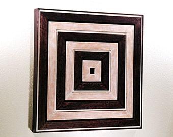 Reclaimed Wood Sculpture. Modern Wall Art.