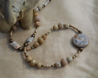 Taupe Temptress - Necklace