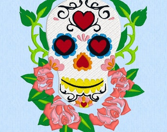 Sugar Skull machine embroidery design file