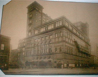 1971 Poster Photo of Carnegie Hall Found How Do You Get To Carnegie Hall Chicago Live Album