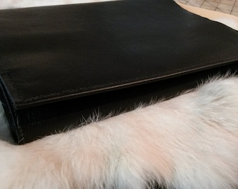 Large Black Leather Book Journal Cover Black Color Plus Custom Foil Stamping Free