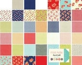 "Fabric, Precut Squares, Moda Charm Pack, Miss Kate Moda Charm Pack 42 Precut 5"" Squares, Bonnie and Camille, FABRIC SALE"