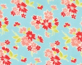 Moda Miss Kate  Plush FLANNEL Spring Blossom Aqua by Bonnie and Camille Vintage Modern, FLANNEL SALE