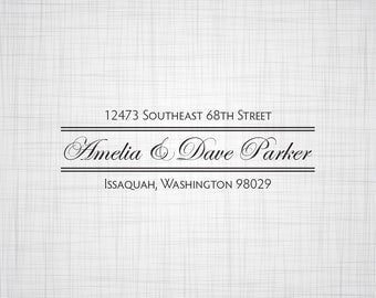 Elegant Personalized Return Address Stamp, Self inking Stamp, Rubber Stamp, Wedding Return Address Stamp, Custom Stamper, Address Stamp