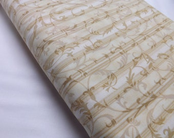Quilting Fabrics, Quilting Cotton, BTY, Cream Shade, Out Of Print, OOP, Bloom, Cream Scrolls, Tote Bag Fabric, Quilting, Timeless Treasures