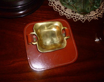 Solid brass ashtray