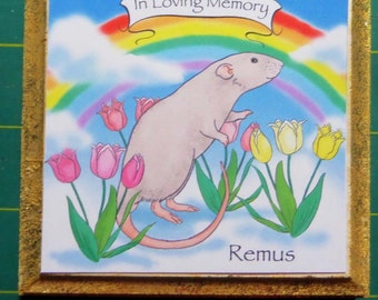 Customized Memorial Plaques for your Beloved Rat, Hand Made from My Original Art
